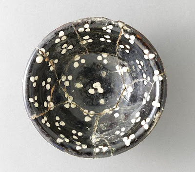 Bowl | Origin: Iran, Nishapur | Period: 10th century | Collection: Gift of Karl Loring (M.2001.77.4) | Type: Ceramic; Vessel, Earthenware, underglaze slip-painted, 1 3/8 x 4 3/8 in. (3.49 x 11.11 cm)