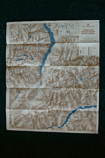 Kokanee Glacier and Valhalla Provincial Park Map