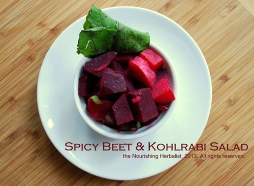 spicy beet and kohlrabi salad