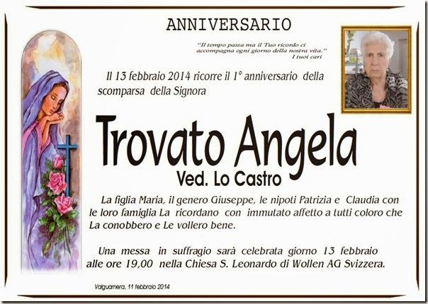 Trovato Angela Anniversario 2014