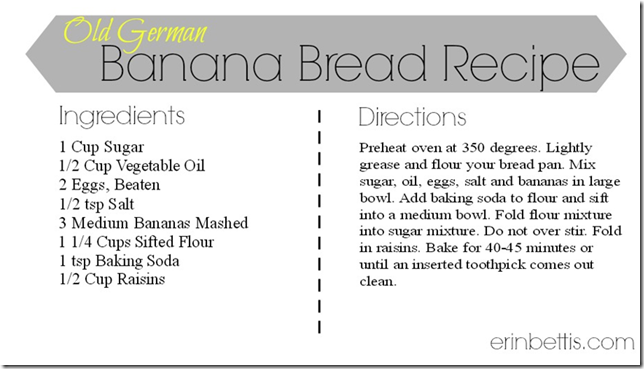 Old German Banana Bread Recipe from erinbettis 02