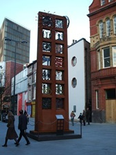 The Pillar of Friendship Installation in Liverpool One