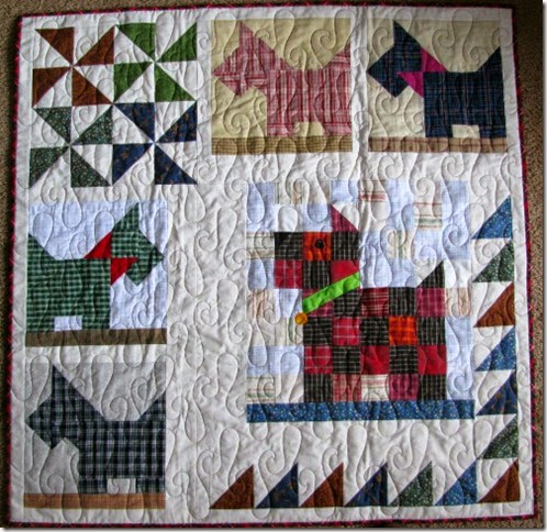 Scotties preemie quilt