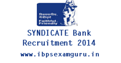 Syndicate Bank 21 Security Officer Recruitment 2014