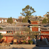Lijiang - sunrise on the Sifang square