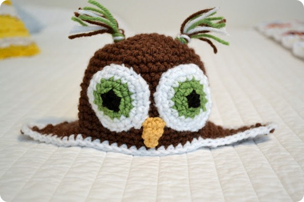 crochet owl hat tutorial