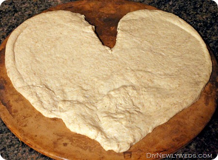 heart-shaped-pizza dough