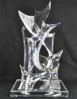 "large Hivo Van Teal acrylic sculpture ""Dynasty"""