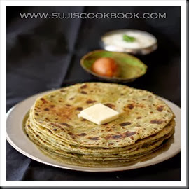 Yummy avocado parathas are ready