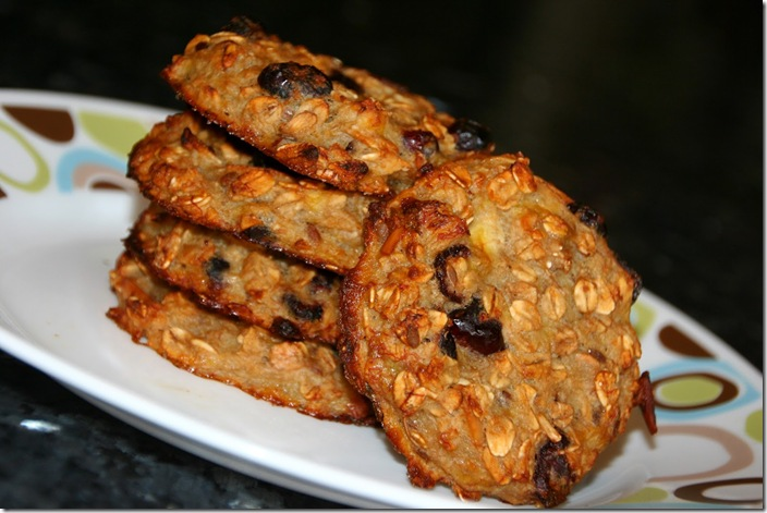 Cranberry Almond Oat Breakfast Cookies