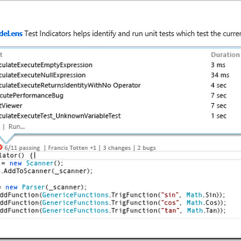Visual Studio CodeLens Tweets of the Day('ish)