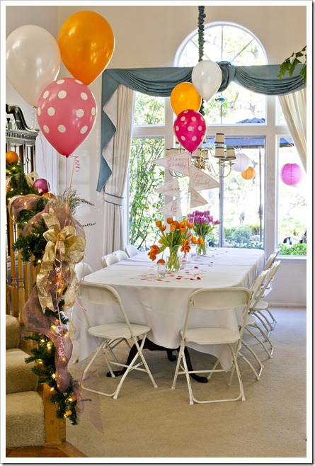 Orange and Pink Party Decorations