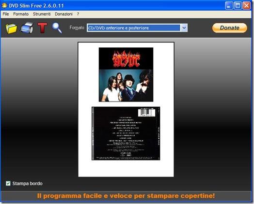 DVD Slim Free creare copertine CD e DVD