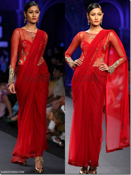 Varun_Bahl_Red_Saree