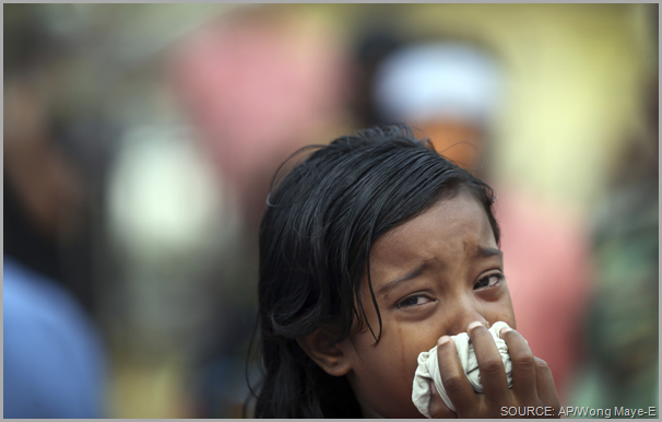 A little girl cries for her mother, still missing in the rubble of the Rana Plaza collapse. Take a stand! Share this post and CLICK to visit the Worker Rights Consortium site to get more information.