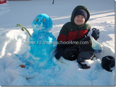 Spray Paint a Snowman Winter Activity