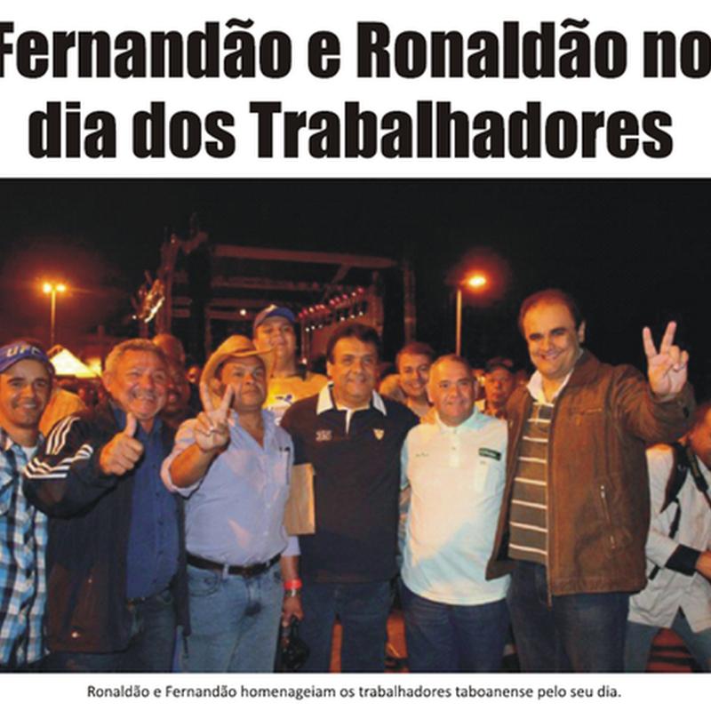 Fernandão e Ronaldão homenageiam os Trabalhadores