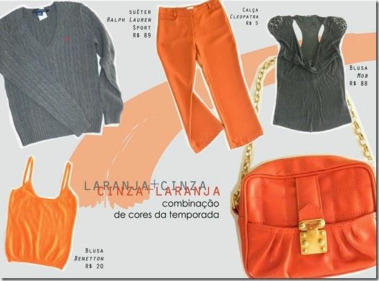 cinza e laranja no Camarim