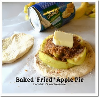 Biscuit baked fried apple pie