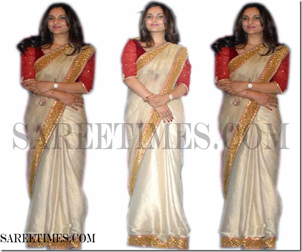 Ramya_Cream_Designer_Saree