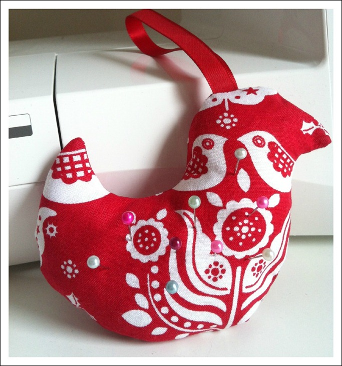 Christmas Birdie PinCushion