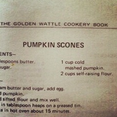 recipe for pumpkin scones