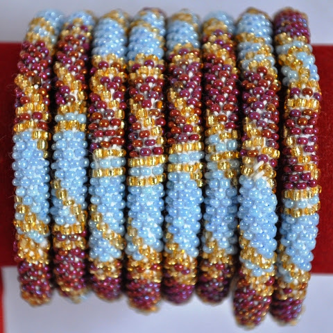 Nepal glass bead bracelets