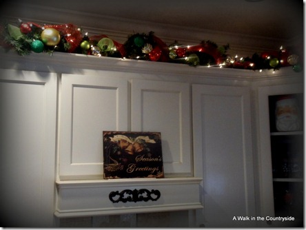 A Walk in the Countryside: Garland on Kitchen Cabinets