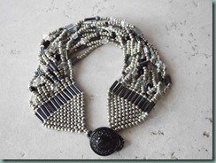 Gray Night 13 Strand Beadwoven Bracelet