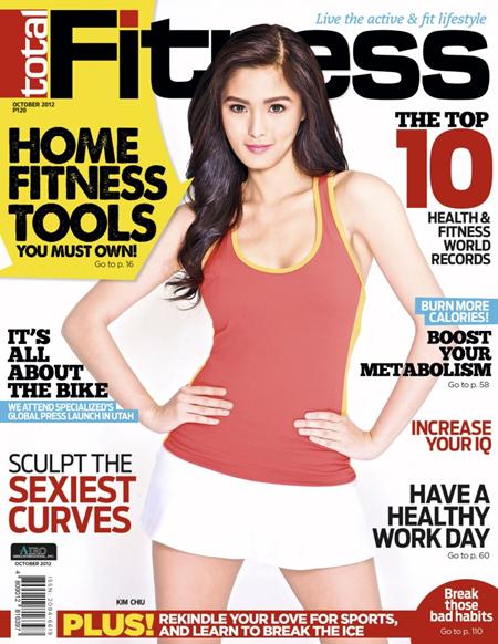 Kim Chiu covers Total Fitness Oct 2012
