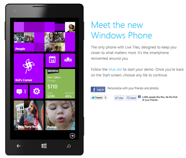 Teste o Windows Phone
