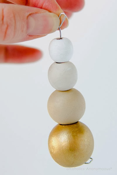 Gold Ombre Ornament Tutorial by Craftaholics Anonymous