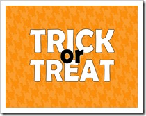 Just Because 41 - TRICK or TREAT - orange houndstooth - 5x7 - Sprik Space