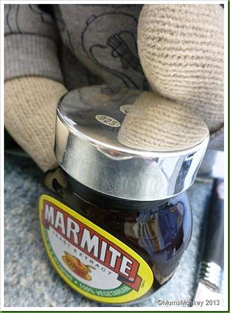 Marmite silver lid