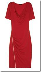 Joseph Stretch Wool Jersey Zip Hem Dress