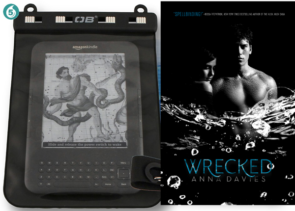 One copy of WRECKED (plus a water proof e-reader cover) by Anna Davies
