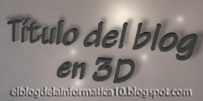Título del blog en 3D con CSS