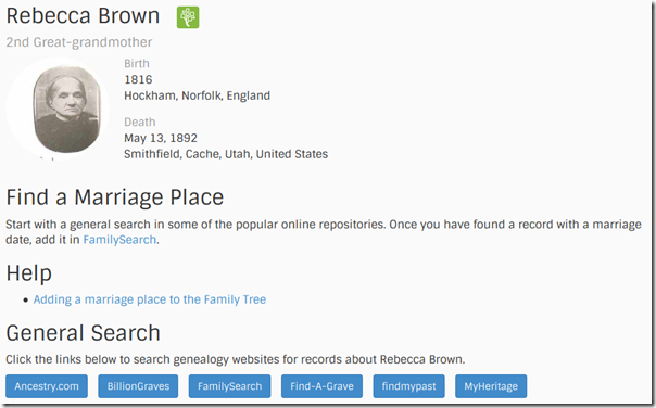 Find-a-Record information page about an opportunity to find missing information