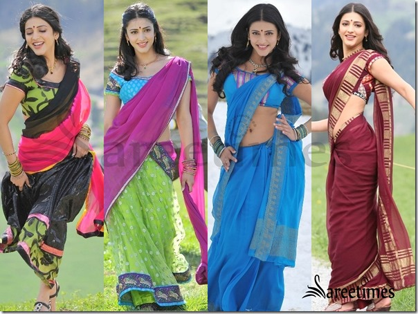 Sruthi_Hassan_Sarees_in_Gabbar_Singh