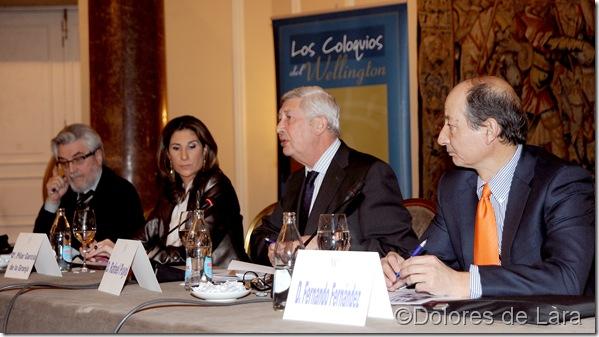 Amando de Miguel, Pilar García de la Granja, Rafael Puyol y Fernando Fernández