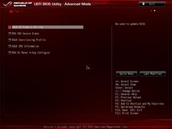 Asus Easy Flash 2 Utility