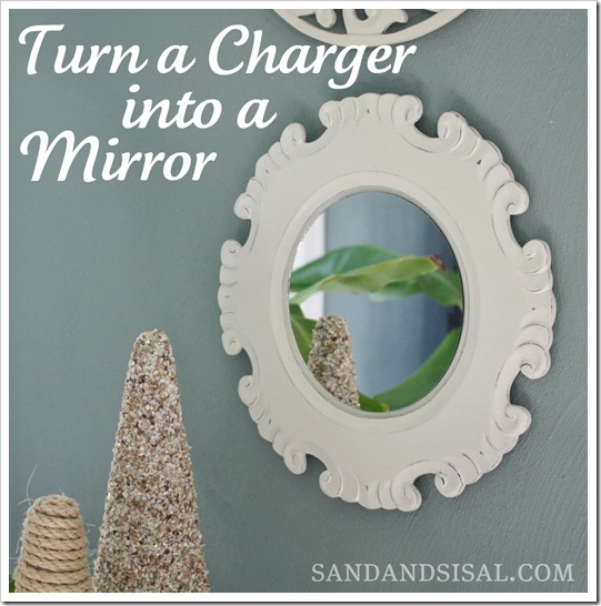 Turn a charger into a mirror