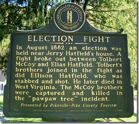 Election Fight marker 2066 in McCarr, Kentucky
