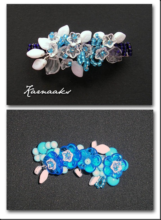 hairclips with flowers