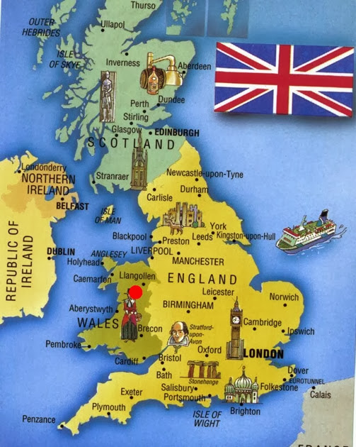 England-Cities-Area-Map penant melangell