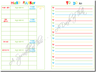 Christmas Planner page 12 and page 13
