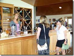 wine tasting with Debbie and Sharon