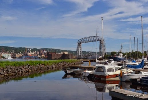 Downtown Duluth, Aerial Lift Bridge, and the Marina