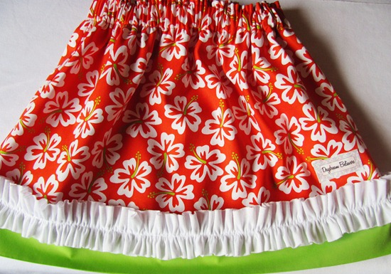Custom Luau Skirt: Skirt of the Month Club 2012: Daydream Believers