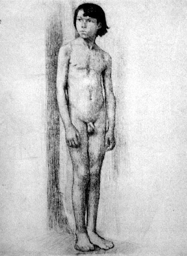 Nude boy art drawings